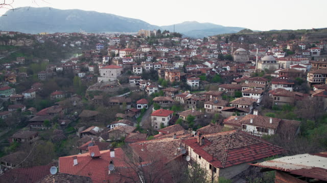 Time-lapse from dusk till night with view of Safranbolu, Turkey. UNESCO cultural heritage site