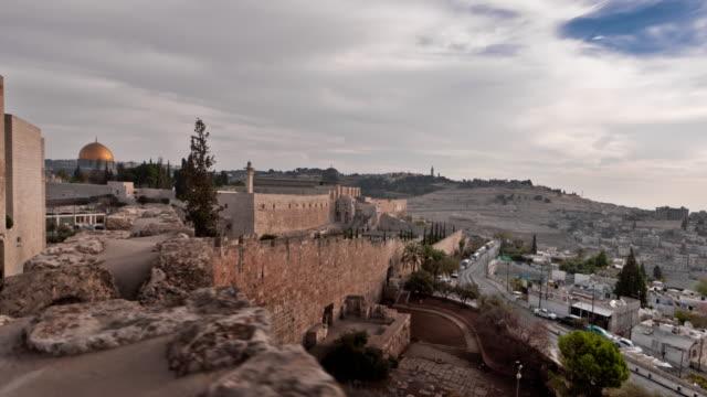 time-lapse from the byu jerusalem center. - jerusalem stock videos & royalty-free footage