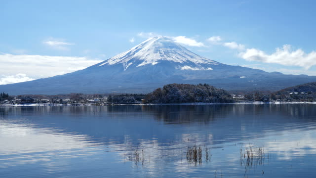 HD timelapse Fuji Mountain in Japan