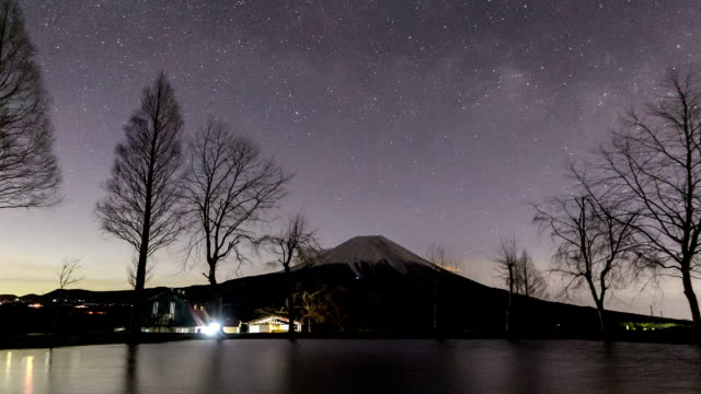 HD Time-lapse: Fujisan sunrise at Fumoto Para Camping