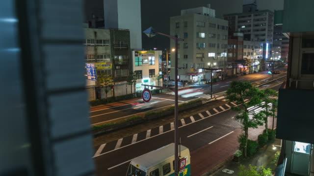 hd time-lapse : fukuoka town , kyushu , japan - fukuoka prefecture stock videos & royalty-free footage