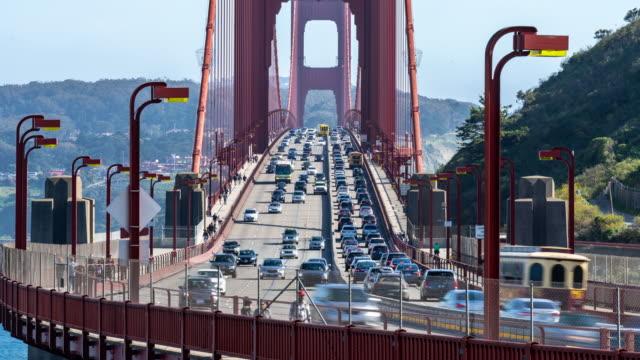 time-lapse golden gate bridge in san francisco california usa west coast of pacific ocean - san francisco california stock videos & royalty-free footage