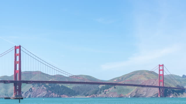 time-lapse golden gate bridge in san francisco california usa west coast of pacific ocean - golden gate bridge stock videos & royalty-free footage
