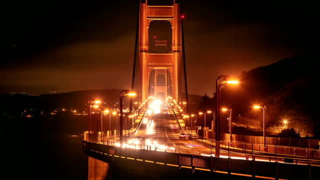 vídeos y material grabado en eventos de stock de time-lapse puente golden gate san francisco - cable de acero