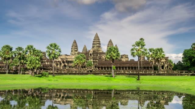 Timelapse - golden sunrise at Angkor Wat in Cambodia