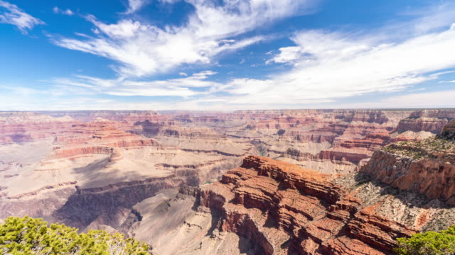 stockvideo's en b-roll-footage met time-lapse grand canyon nationaalpark south rim in arizona usa - nationaal monument beroemde plaats