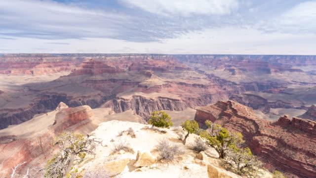 米国アリゾナ州でコマ撮りのグランドキャニオン国立公園の南縁 - グランドキャニオン点の映像素材/bロール