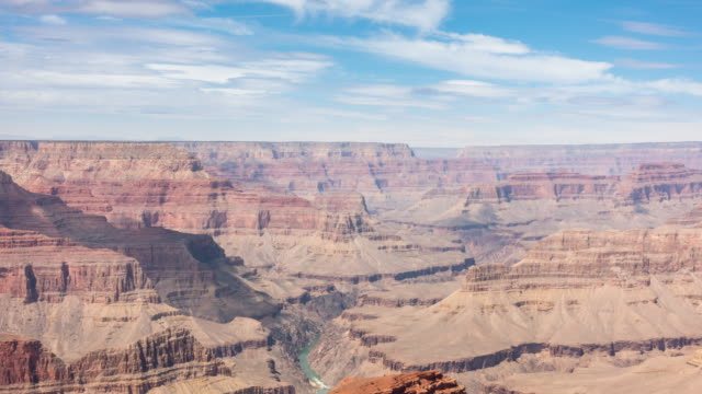 vídeos de stock, filmes e b-roll de time-lapse borda sul do parque nacional grand canyon no arizona eua - na beira