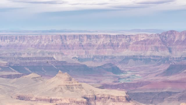 vídeos de stock, filmes e b-roll de time-lapse borda sul do parque nacional grand canyon no arizona eua - desfiladeiro
