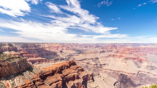 time-lapse grand canyon national park south rim in arizona usa - national landmark stock videos & royalty-free footage