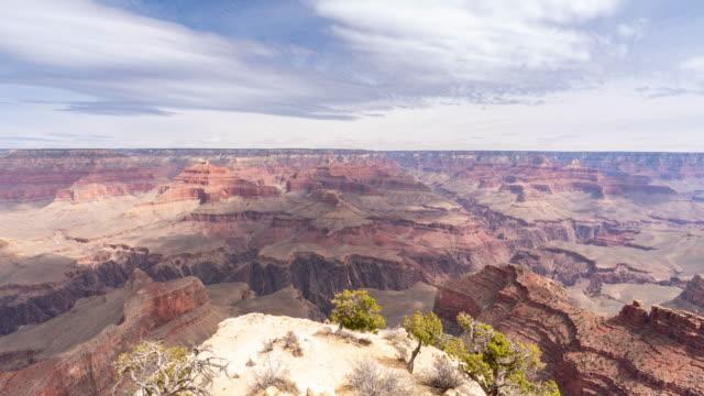 vídeos de stock, filmes e b-roll de time-lapse borda sul do parque nacional grand canyon no arizona eua - desfiladeiro
