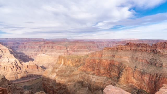vídeos de stock e filmes b-roll de time-lapse grand canyon national park west rim in arizona usa - grand canyon national park