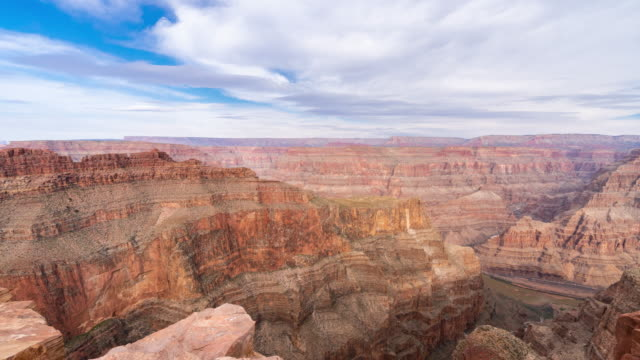 bordo del grand canyon national park west time-lapse in arizona usa - canyon video stock e b–roll