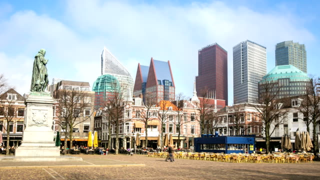 hd time-lapse: hague downtown netherlands - binnenhof stock videos and b-roll footage