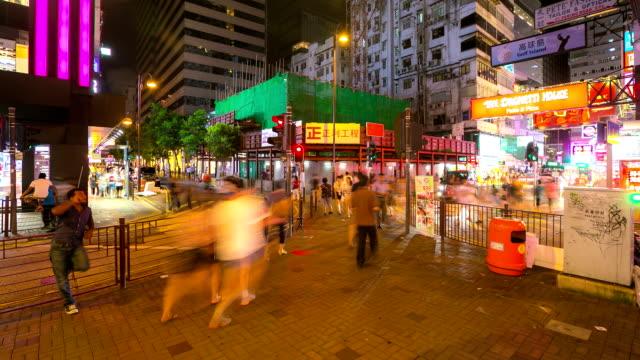 Time-lapse HD: Pedestrians at Tsim Sha Tsui Hong Kong