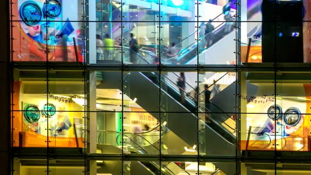 Time-lapse HD: Pedestrians Shopping Mall Hong Kong