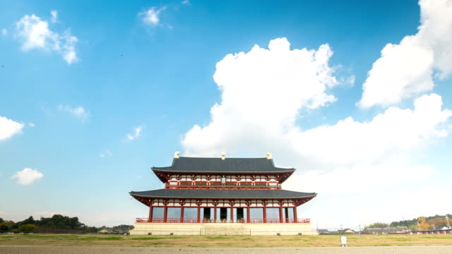 Time-lapse: heijo Palace with cloudscape Kyoto Japan