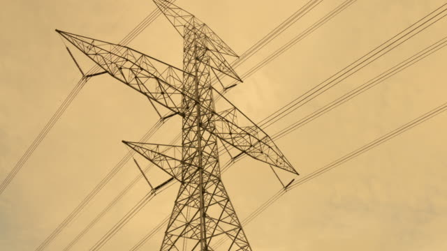 4K Timelapse: high voltage pole