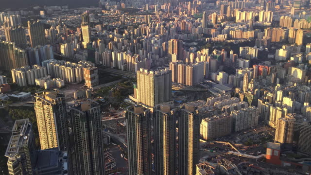 Time-lapse Hong Kong city view from top twilight moment time