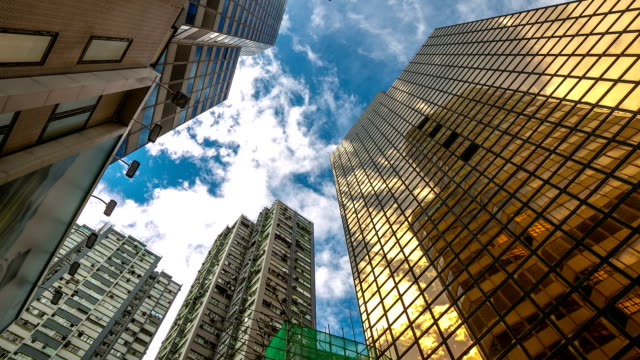 HD Time-lapse: Hong Kong Cityscape Building Background
