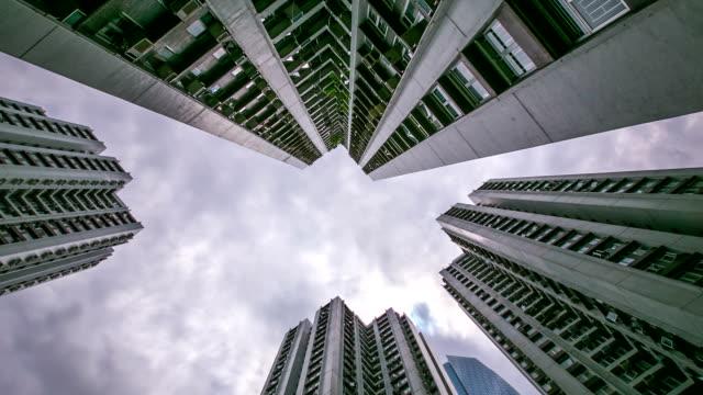 HD Time-lapse: Hong Kong Cityscape edificio de fondo