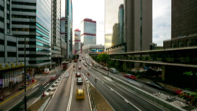 HD Time-lapse: Horizonte de Hong Kong en el centro de la ciudad