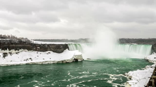 """vídeos de stock e filmes b-roll de hd """"time-lapse"""": catarata horseshoe niagara falls, em ontário, canadá - rio niágara"""