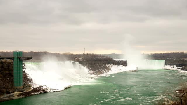time-lapse in hd: horseshoe falls di niagara falls, in ontario, canada - niagara falls video stock e b–roll