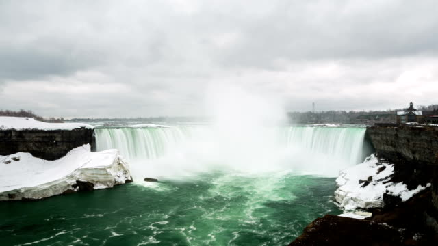 hd time-lapse: horseshoe niagara falls, ontario, canada - horseshoe stock videos and b-roll footage