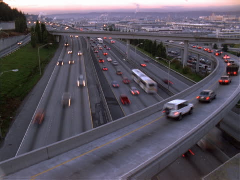 timelapse image of a busy freeway in morning light. - londonalight stock videos and b-roll footage
