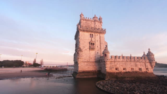 timelapse in belem - lisbon stock videos and b-roll footage