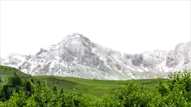 stockvideo's en b-roll-footage met timelapse in costabella mountain - dolomites (italy) - pjphoto69