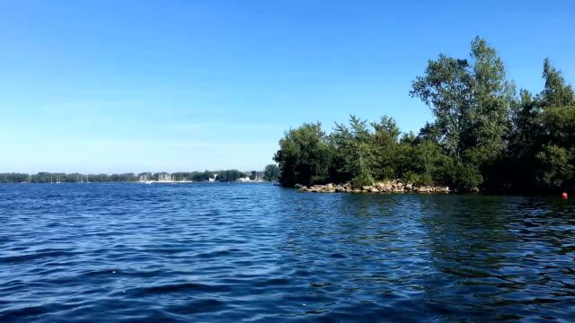 timelapse in lake ontario in toronto,canada - lake ontario bildbanksvideor och videomaterial från bakom kulisserna