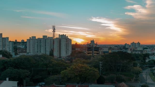 ポルトアレグレ、ブラジルでタイムラプス - リオグランデドスル州点の映像素材/bロール
