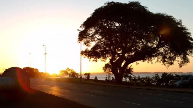 time-lapse di porto alegre - stato di rio grande do sul video stock e b–roll