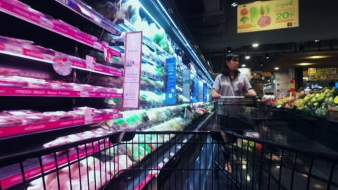 time-lapse in supermarket - market retail space stock videos & royalty-free footage
