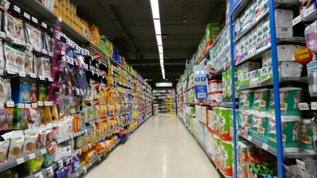 time-lapse in supermarket - shelf stock videos and b-roll footage