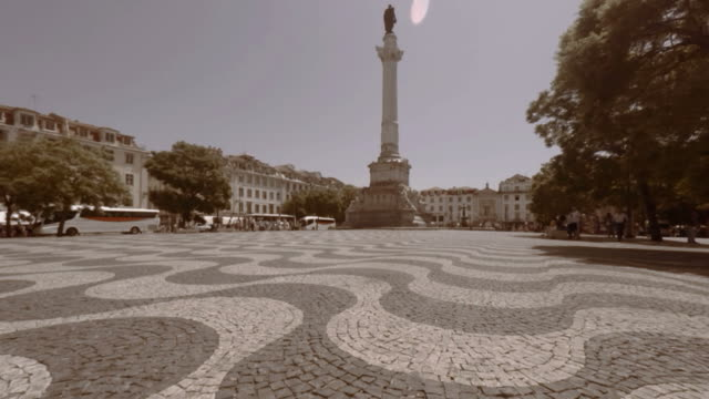 Timelapse in the Rossio Square