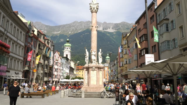 Stadtmitte Timelapse-Innsbruck, Österreich