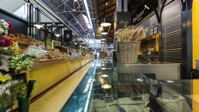 Timelapse inside of the iconic Mercado da Ribeira