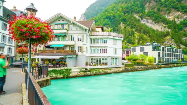 Timelapse Interlaken-Stadt in der Schweiz