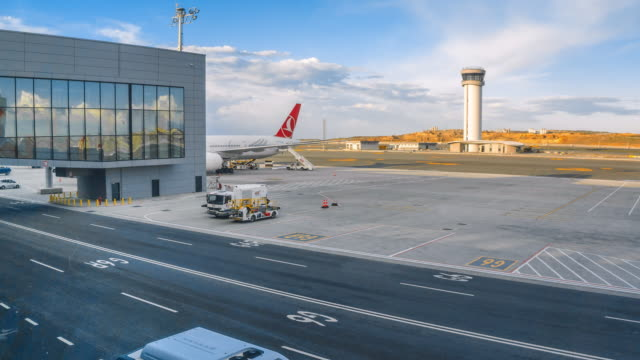 time-lapse istanbul new airport  international airport - international match stock videos & royalty-free footage