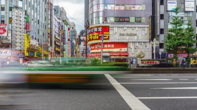 4k timelapse : kabukicho crossing in shinjuku tokyo, japan - restlessness stock videos and b-roll footage