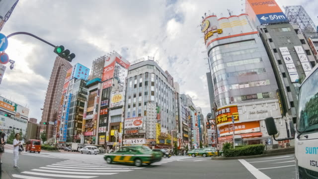 4k timelapse : kabukicho crossing in shinjuku tokyo, japan - restlessness stock videos & royalty-free footage