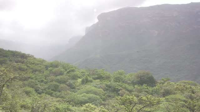 timelapse khareef monsoon mist drifts over mountains, oman - monsoon stock videos and b-roll footage