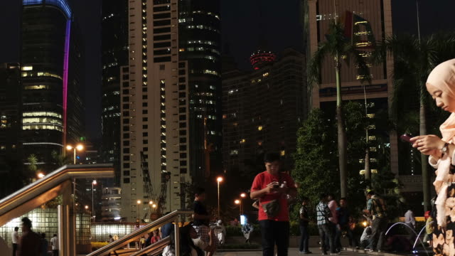 hd time-lapse : kl night city of malaysia - malaysian culture stock videos and b-roll footage