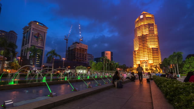 HD time-lapse : KL night city of Malaysia