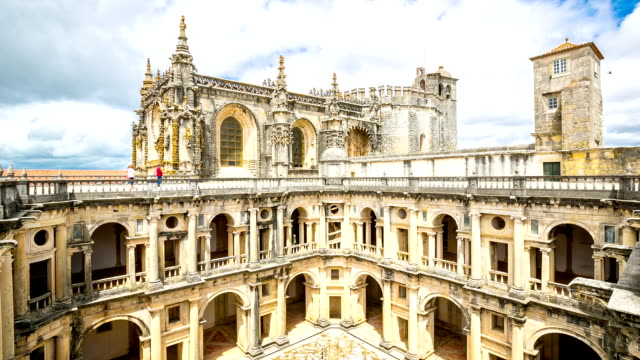 hd time-lapse: knights templar convents of christ tomar, lisbon portugal - knights templar stock videos & royalty-free footage