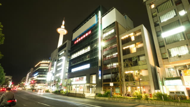 stockvideo's en b-roll-footage met hd time-lapse: kyoto tower, japan - hd format