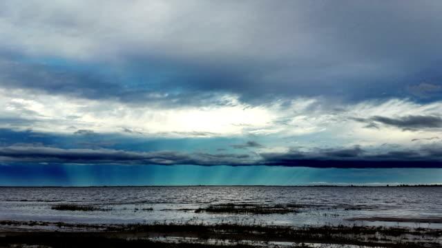 timelapse con nubes de laguna de santa fe argentina